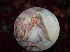 WEDGWOOD QUEENS WARE DISPLAY PLATE LIMITED EDITION MARY VICKERS THE LOVE LETTER